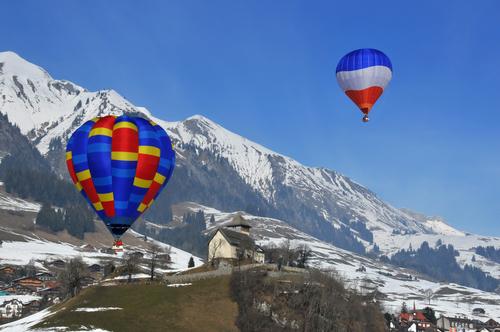 Aufstieg in die Alpen